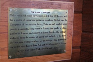 Vicky plaque